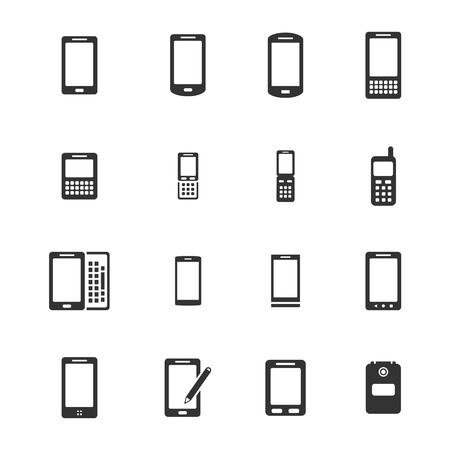 Telefoons eenvoudige iconen voor web