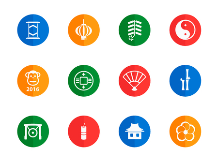 fortuna: Chinese New Year flat icons for media
