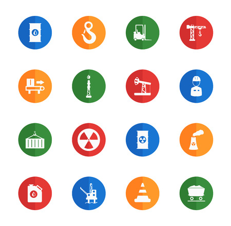 jumpsuit: Industrial flat icons for media