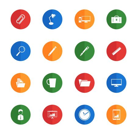 attache case: Office  flat icons for media