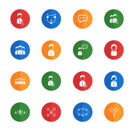 Community  flat icons for media Иллюстрация