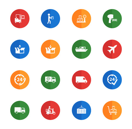 Delivery flat icons for media
