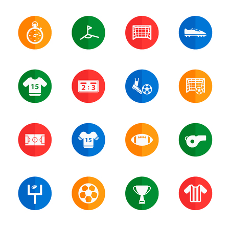 soccer field: Football  flat icons for media