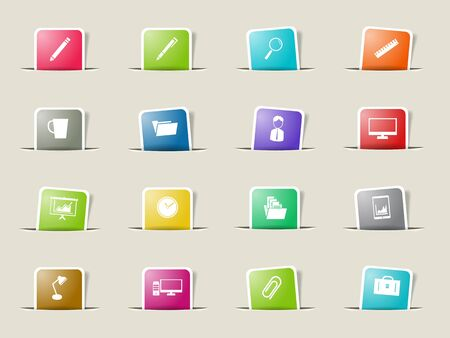 office paper: Office paper icons for web Illustration