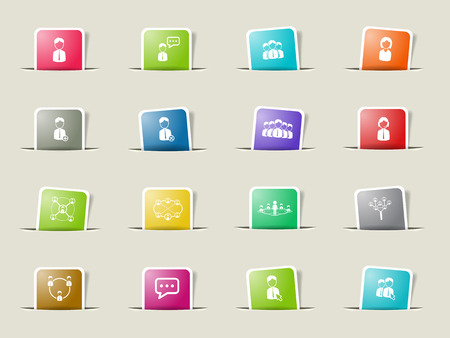 Community paper icons for web