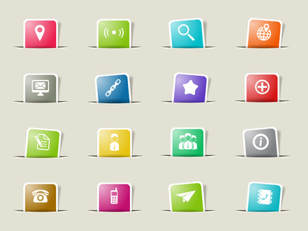envelope: Contacts paper icons for web Illustration