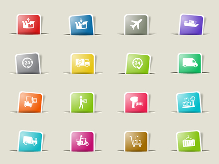 put tick: Delivery paper icons for web