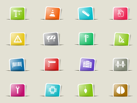 calliper: Engineering paper icons for web Illustration