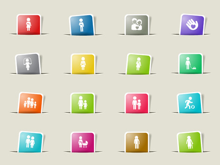 oldman: Family paper icons for web