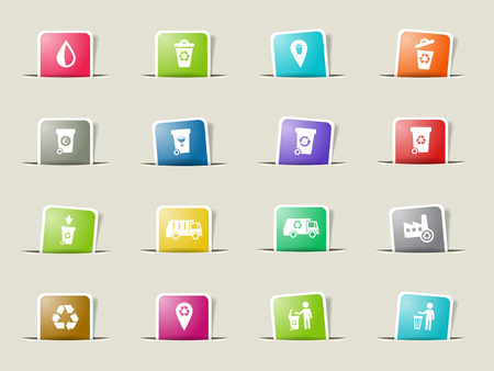 Garbage paper icons for web