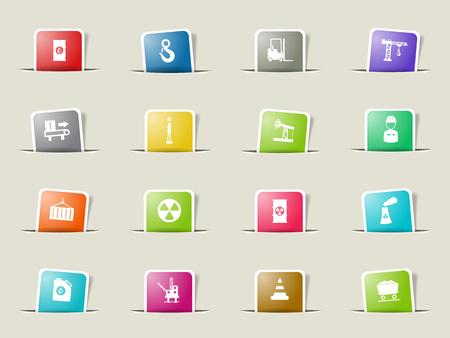 Industrial paper icons for web Ilustração