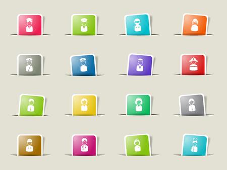 ocupation: Ocupation paper icons for web Illustration