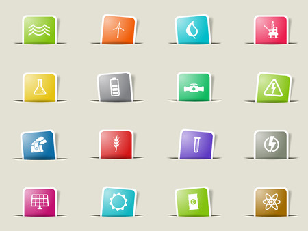power generation: Power generation paper icons for web