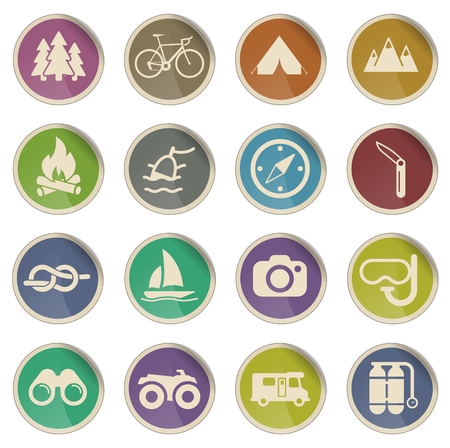 recreation: Active recreation label icons for web