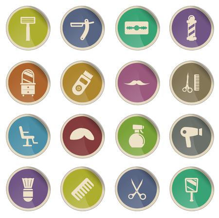 barbershop: Barbershop label icons for web