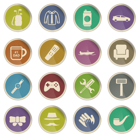 smocking: Fathers day label icons for web