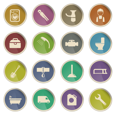 siphon: Plumbing service label icons for web