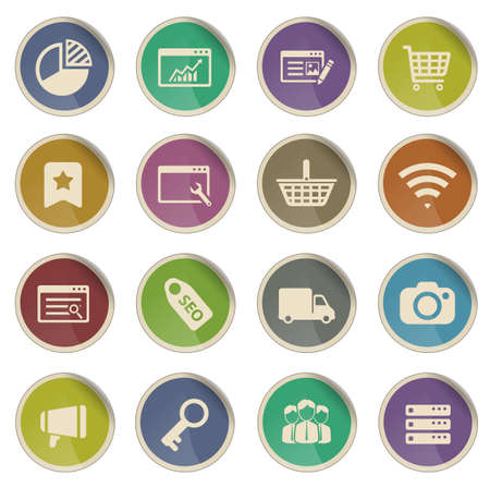 collective: SEO and development label icons for web