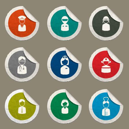 ocupation: Ocupation sticker icons for web