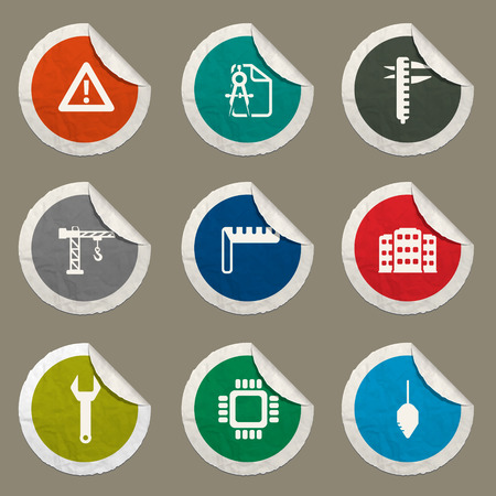 calliper: Engineering sticker icons for web Illustration