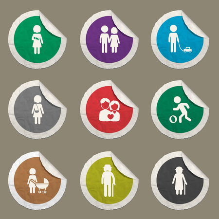 oldman: Family sticker icons for web