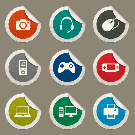 portable console: Gadgets sticker icons for web