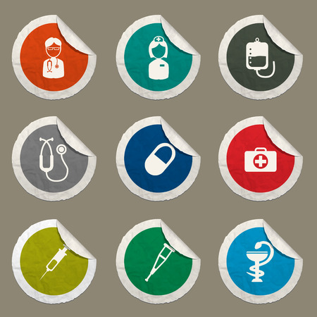 catheters: Medical sticker icons for web
