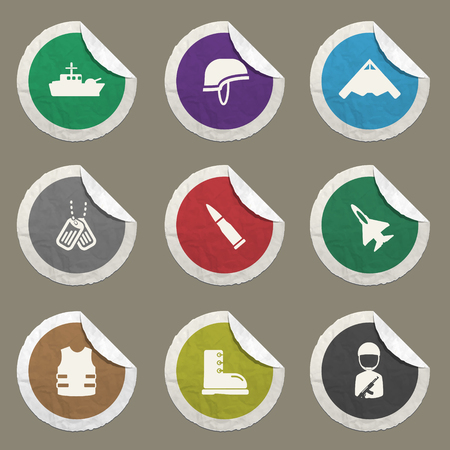 biological hazards: Military sticker icons for web