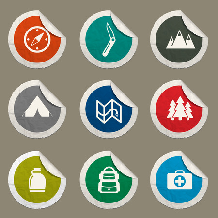 first aid kit: Boy scout  sticker icons for web