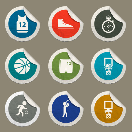 tank top: Basketball sticker icons for web