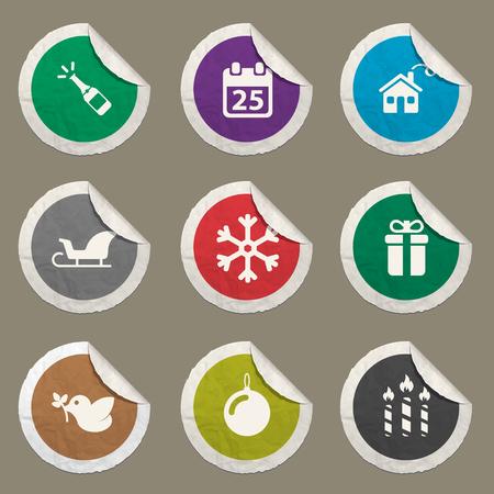 Community sticker icons for web Иллюстрация