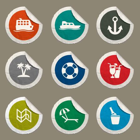 lifejacket: Cruise sticker icons for web