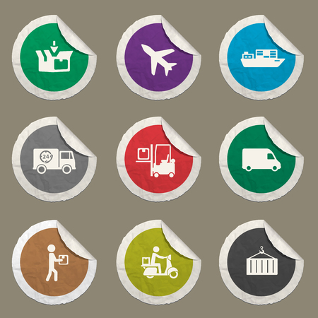 Delivery sticker icons for web