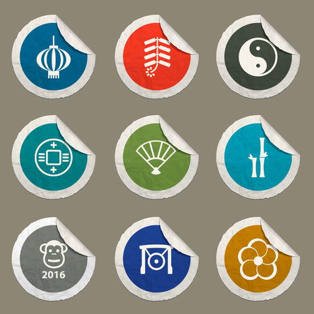 fortuna: Chinese New Year sticker icons for web