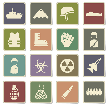 biological hazards: Military label icons for web