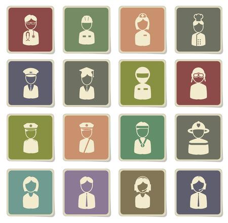 ocupation: Ocupation label icons for web Illustration