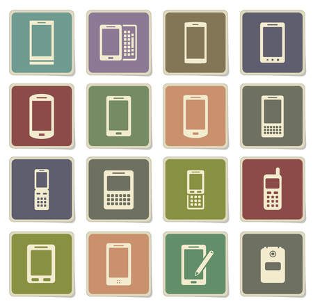 Phones label icons for web