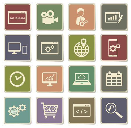 option key: SEO and development label icons for web
