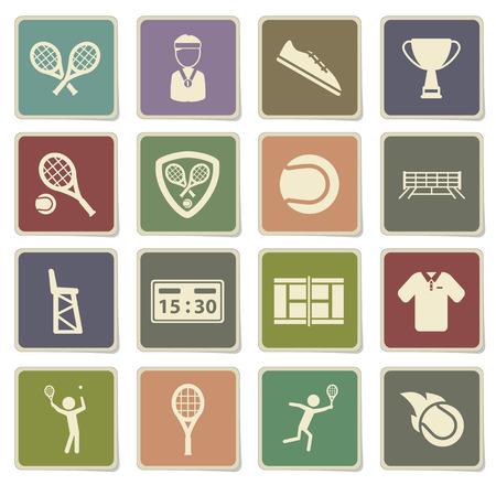 tennis shoe: Tennis label icons for web