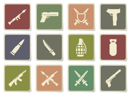 frag: Weapon label icons for web Illustration