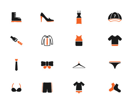 woman tie: Clothes simply icons for web