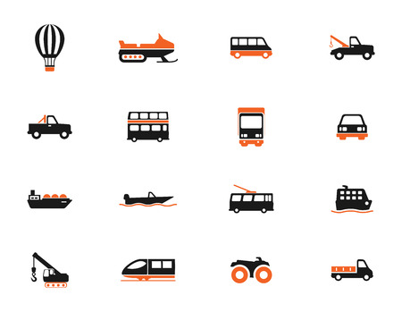 highspeed: Transportation simply icons for web Illustration