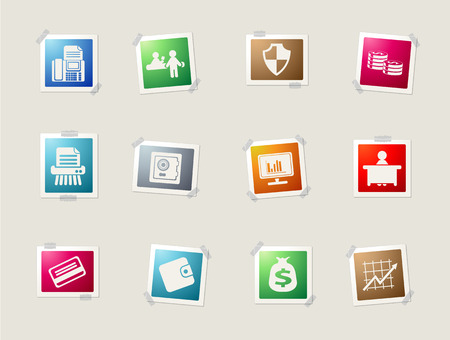 vaulted door: Finance card icons for web