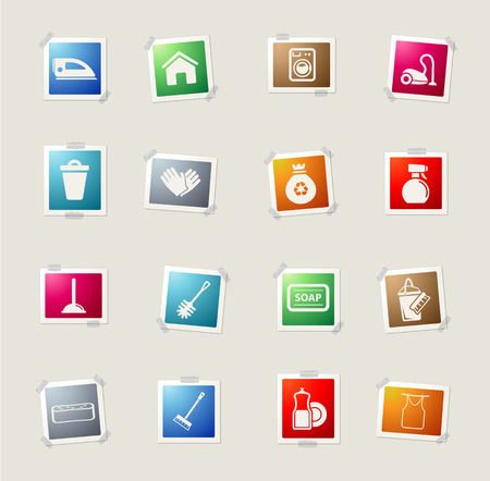 spot clean: Cleaning service simply icons for web
