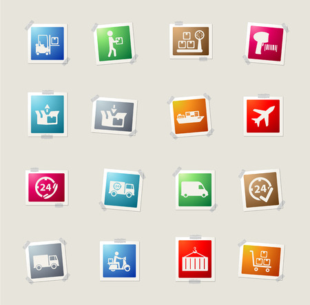 Delivery card icons for web