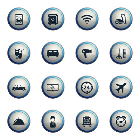 satellite tv: Hotel chrome icons for web