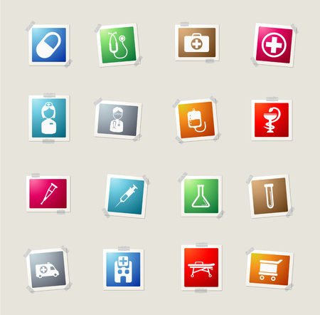 catheters: Medical card icons for web