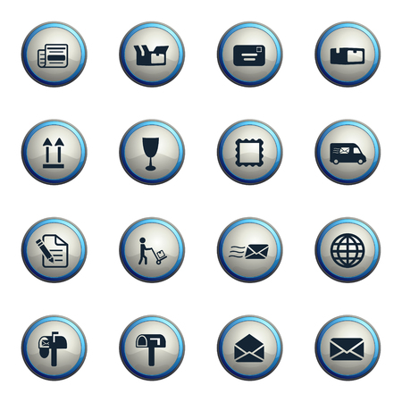 recipient: Post service chrome icons for web