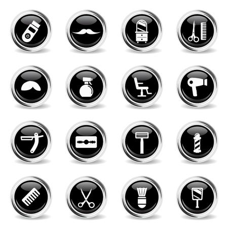barbershop: Barbershop chrome icons for web