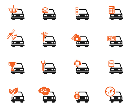 calculus: Car service simply icons for web